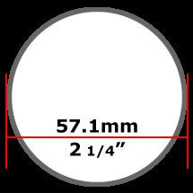 57.1mm Mild Steel