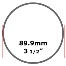 89.9mm Stainless Steel