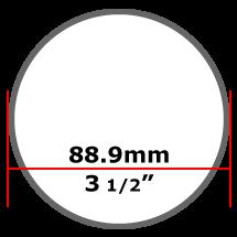 88.9mm Mild Steel